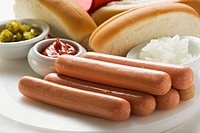 Ingredients for hot dogs