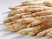 White asparagus with violet tips