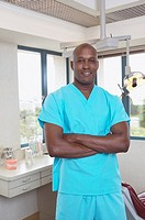 African male dental assistant in office