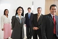 Portrait of Hispanic businesspeople