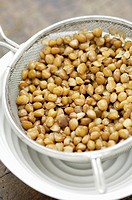 Lentils in a sieve