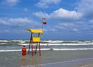 Romania, Mamaia, Black Sea, Beach, Lifesaver, Salvamar Rescue