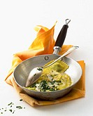 Cheese ravioli with parsley