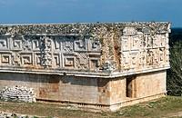 Governor´s Palace. Mayan ruins. Uxmal. Yucatan. Mexico.