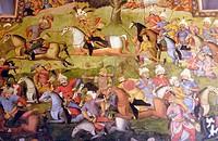 Battle of the Shah Ismail I and the Uzbeks. Chehel Sotoon Palace. Isfahan. Iran.