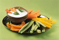 Vegetable sticks with dip
