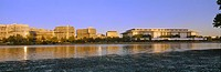 Kennedy Center and Watergate Hotel across Potomac River