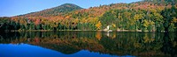 Panoramic view of Crawford Notch State Park in the White Mountains