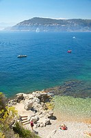 Looking down on the Mediteranean near Villefranche sur Mer, French Riviera, France
