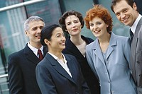 Group of business executives, portrait