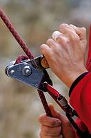 Climber. Jaraba. Calatayud. Zaragoza province, Aragón, Spain