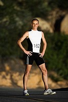 Triathlete Posing