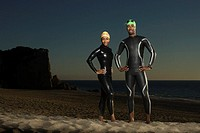 Swimmers in Wet Suits