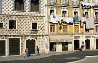 Casa dos Bicos, Rúa dos Bacalhoeiros. Lisbon. Portugal