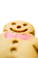 Close-up of a gingerbread man cookie