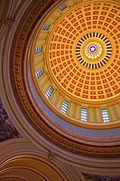 Low angle view of the ceiling of a rotunda, State Capitol, Oklahoma City, Oklahoma, USA
