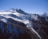 reeds glacier, Mischabelgruppe, Mischabel, mountains, alps, glaciers, canton Valais, Switzerland, Europe, scenery