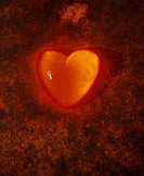 Closeup of embers heart