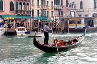 Italy, Venice, Canale grande, gondola