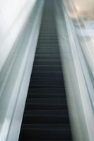 Escalator, blurred, low angle view