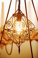 Oriental-style lamp, close-up