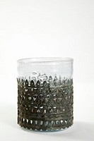 Oriental tea glass, close-up