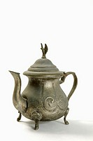 Metal teapot, close-up