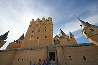 Spain, Segovia, Alcazar, low angle view