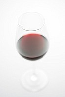 Studio Shot of Glass of Red Wine