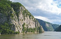 River flowing through mountains, Danube River, Serbia