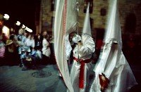 Holy Week procession in the old town, Bilbao. Biscay, Euskadi, Spain