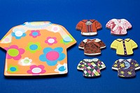 Close-up of children's wear cutouts