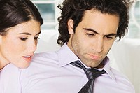 Close-up of a businessman and a businesswoman (thumbnail)