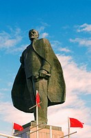 Low angle view of a statue, Lenin Monument, Petropavlovsk Kamchatsky, Kamchatka, Russia