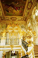 Interiors of the entrance hall of a palace, Peterhof Grand Palace, St  Petersburg, Russia