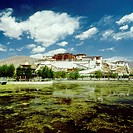 Reflection of a palace in water, Potala Palace, Lhasa, Lhasa Valley, Tibet, China