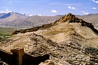 Fort on top of a mountain, Gyantse Fort, Gyantse, Tibet, China