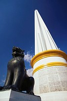 Low angle view of an independence monument, Yangon, Myanmar