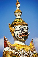 Close-up of a statue of demon, Wat Arun, Bangkok, Thailand