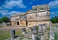 The Dependance of the Convent (UNESCO World Heritage). Chichen Itza. Yucatan. Mexico.
