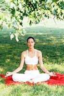 young woman, yoga