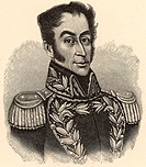 Simon Bolivar, the Liberator Simon Jose Antonio de la Santisima Trinidad Bolivar Palacios y Blanco - 1783-1830 born in Caracas, Venezuela  South Ameri...