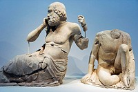 Statues in the Olympic museum. Katakolon, Greece