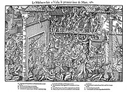 French Religious Wars 1562-1598  Massacre at Vassy l March 1562  Francois de Lorraine, 2nd Duc du Guise 1519-1563, B, directs massacre of Huguenots du...