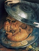 Guiseppe Arcimboldo c1530-93 Italian painter  'The Cook', still life c1570  Oil on wood  Private collection
