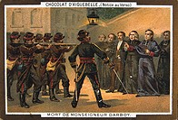 Illustration depiciting execution of priests during the Paris commune, 1871