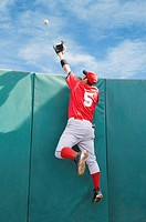 Diving catch over the wall