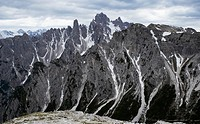 Italy, Alto Adige, Dolomites, Rugged mountains