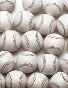 Baseballs, overhead view