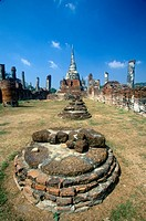 ´Wat Chang Lom Ancient Buddhist Temple at Sri Satchanaiai Historical Park, Thailand´